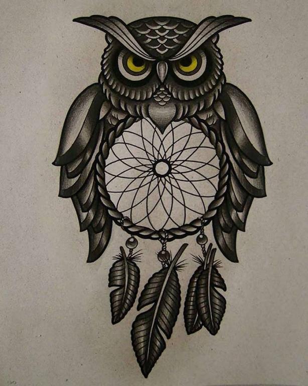 Tatuagens De Coruja Tatuagem Org