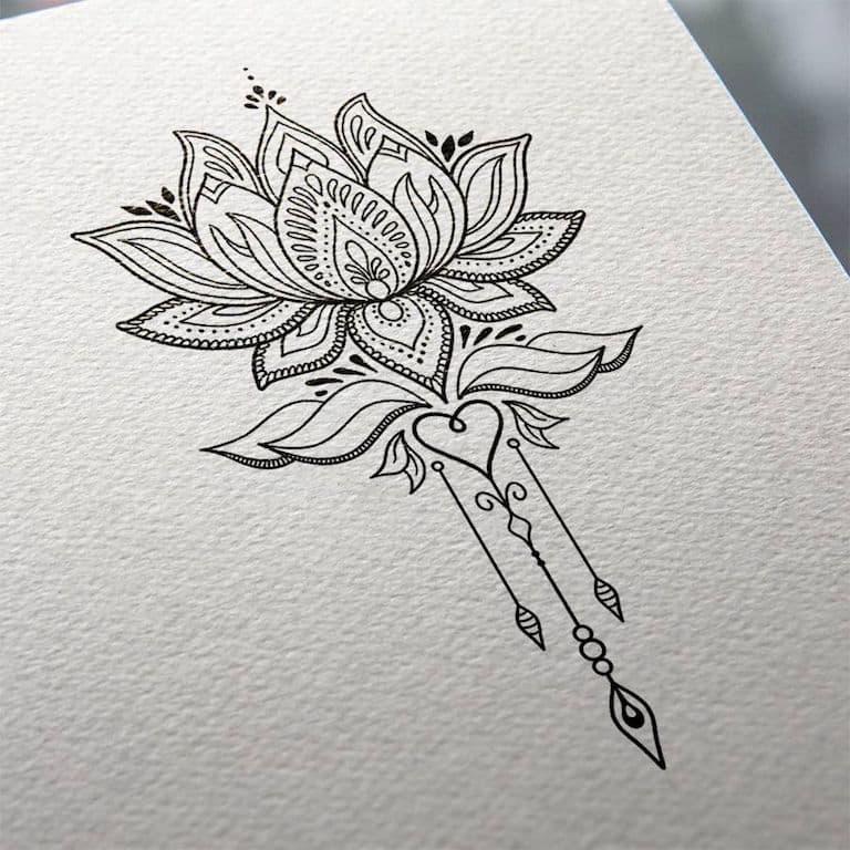 Tatuagens Flor De Lotus Página 2 De 2 Tatuagemorg