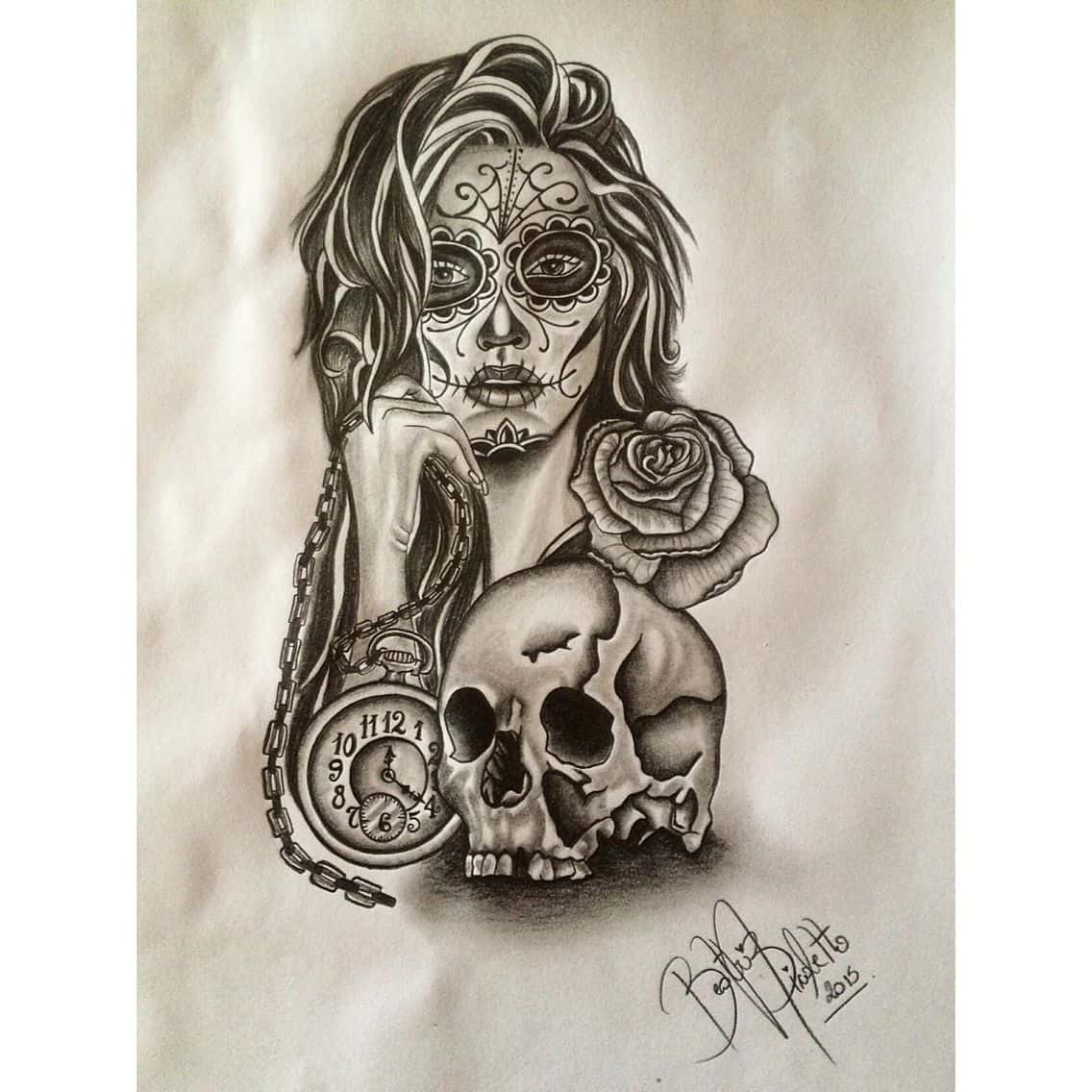 Catrinas Desenhos Para Tattoo Mmod