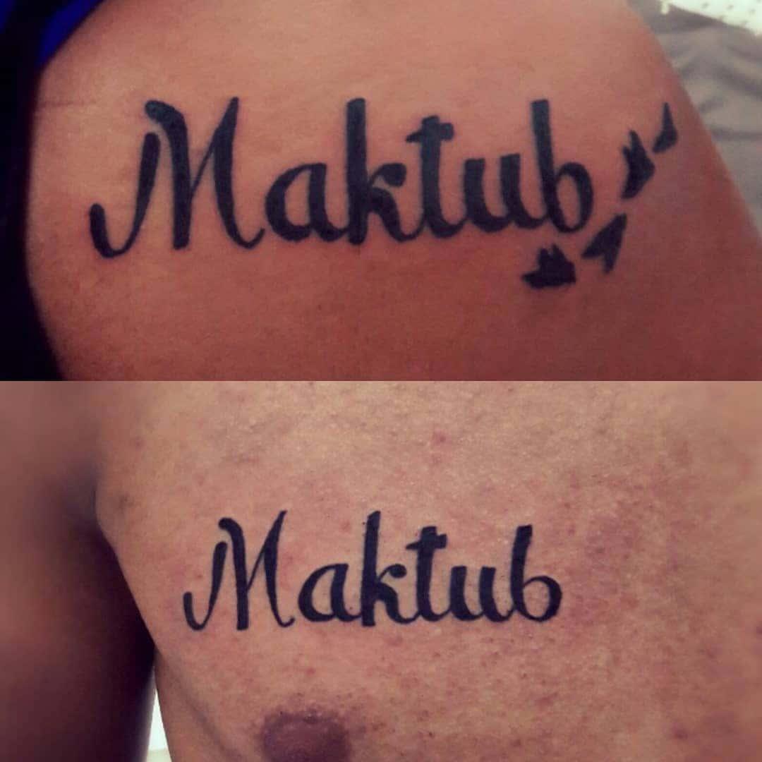Tatuagem Maktub Significado Feminino E Maculino Tatuagem Org