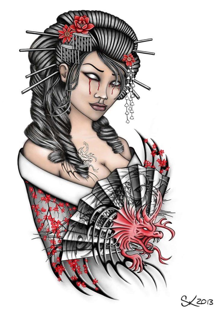 Gueixa Tattoo Significados E 87 Fotos E Ideias Tatuagem Org