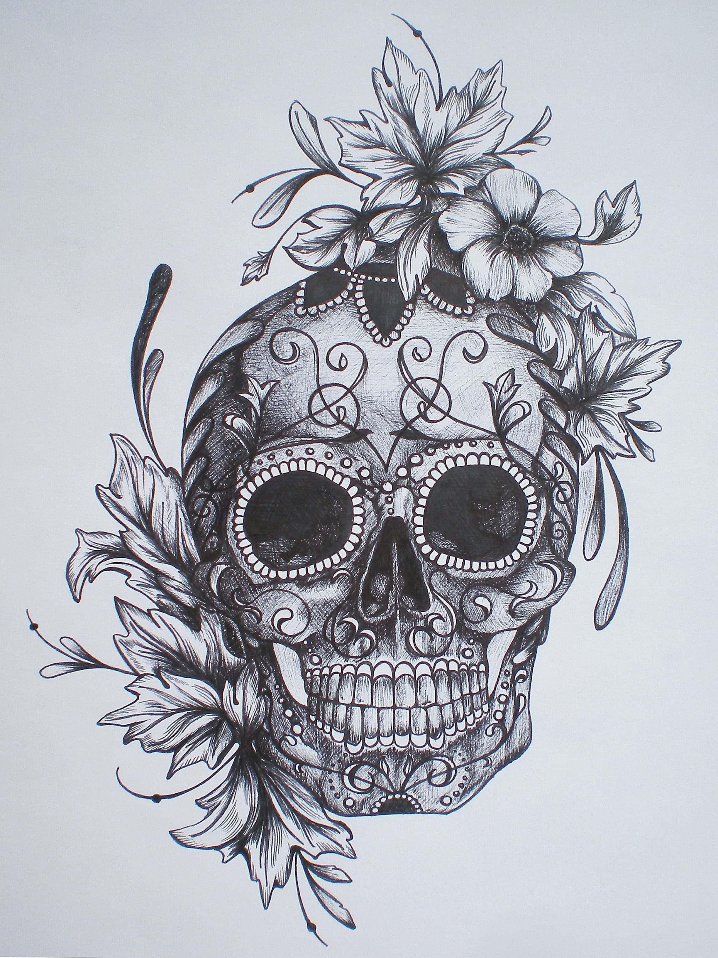 Tatuagem De Caveira Mexicana Tatuagem Org